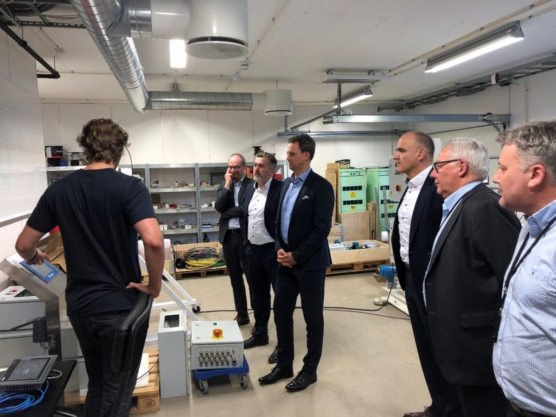 Zeppelin management team visiting Optimarin